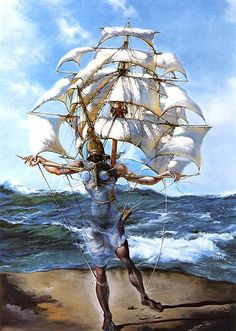 Salvador Dali - A Caravela.  I don't usually like Dali's work that much, but this really caught my eye.