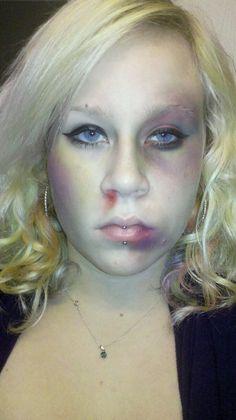 Bruised makeup look!