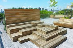 wood amphitheater stepped seating in rooftops - Google Search