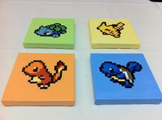 Charmander Pokemon Nintendo 8 Bit Pixel Art 6x6 by KaterineArts