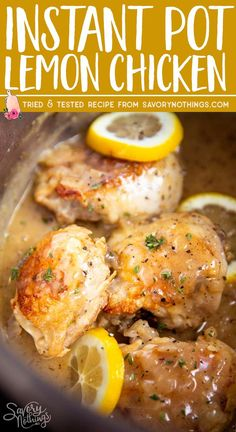 Instant Pot Lemon Chicken (Cook from Fresh or Frozen!) Make this Instant Pot Lemon Chicken for dinner tonight – everyone will love it. Even better: It's SO quick and easy to make – and you can even cook the chicken from frozen! Instant Pot Pressure Cooker, Pressure Cooker Recipes, Pressure Cooker Chicken, Frozen Chicken Recipes, Instant Pot Dinner Recipes, Recipes Dinner, Cooking Recipes, Healthy Recipes, Salads