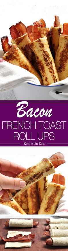 BACON French Toast Roll Ups | I wish I had never discovered this!!! It's ridiculously addictive!!!