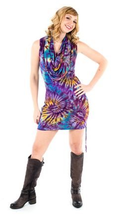 Large Tie Dye Cotton Huntress Cinch Dress
