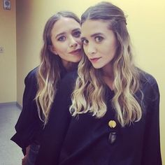 Instagram spottings of Mary-Kate and Ashley Olsen at a Sephora event in Las Vegas. #style #fashion #olsentwins