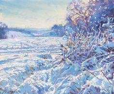 Laurence Dingley, Winter Sun #painting #wintersun