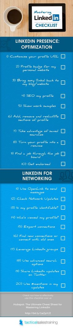 20 Steps to Mastering the Art of LinkedIn [Infographic] by The Savvy Intern  - #networkmarketingtips