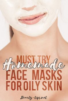 Having problems with too oily skin and acne? Here are some great homemade masks for oily skin to help improve the quality of your skin and get rid of blackheads. // Beauty-Tips Mask For Oily Skin, Oily Skin Care, Moisturizer For Dry Skin, Skin Mask, Acne Face Mask, Acne Skin, Skin Care Routine For 20s, Beauty Tips For Face, Beauty Hacks