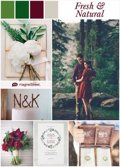 Woodland Wedding Inspiration--based on Pantone's Treetop Green (+ Free Wedding Sample from MagnetStreet)