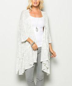 Cream Oversize Kimono Cardigan #zulily #zulilyfinds