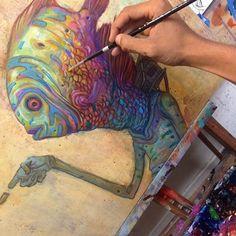 The beautiful work of Hawaiian artist Ekundayo @sorrowbecomesjoy - @art_worldly @art_worldly by art_spotlight