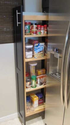 The pullout pantry helps to use deep cabinets that would otherwise be useless.  Ever try reaching back two feet to get stuff in a deep cabinet?  Ugh.