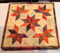 Made by Cindy.  Lemoyne star variation...deb tucker tool