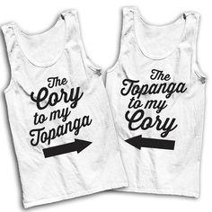 The Cory To My Topanga The Topanga To My by AwesomeBestFriendsTs #boymeetsworld