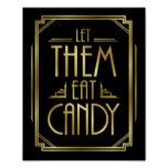 Gatsby Art Deco LET THEM EAT CANDY Sign Print #weddinginspiration #wedding #weddinginvitions #weddingideas #bride