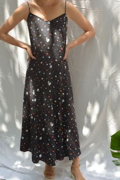 17882983bbb Ganni Nolana Silk Slip Dress - Black