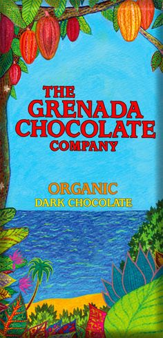 Organic dark chocolate from Grenada. They use solar energy to run the factory so you can feel good while you eat it!