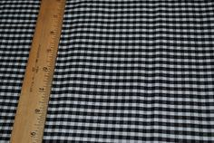 """Black and White Gingham Cotton Fabric  18"""" x 22@ by monroe2830 on Etsy"""