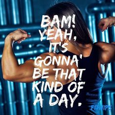Double tap to get it done. - Tag a friend who's gonna make it a BAM! day today. - #Fitwips - by fitwips