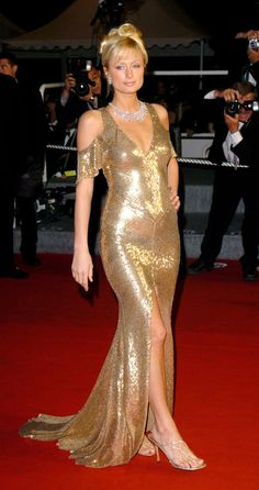 The absolute best of Cannes red carpet fashion: Paris Hilton in 2005.