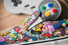 A Closer Look at the Nintendo x Vans Footwear Collection: Colorful patterns featuring 'Legend of Zelda,' 'Super Mario Bros. Vans X, Vans Sneakers, Vans Shoes, Vans Footwear, Nintendo, Basket Vans, Baskets, Kawaii Shoes, Sneaker Art
