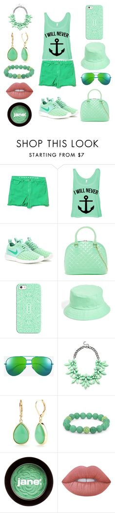 """""""Wednesday's outfit #4"""" by cvetkovicc17 ❤ liked on Polyvore featuring Earnest Sewn, NIKE, Casetify, Amici Accessories, Yves Saint Laurent, Slate & Willow, Napier, Palm Beach Jewelry, jane and Lime Crime"""