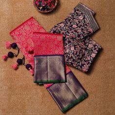 Silk Saree Blouse Designs, Saree Blouse Patterns, Bridal Blouse Designs, Sari Blouse, Sari Dress, Designer Blouses Online, South Silk Sarees, Silk Saree Kanchipuram, Wedding Saree Collection