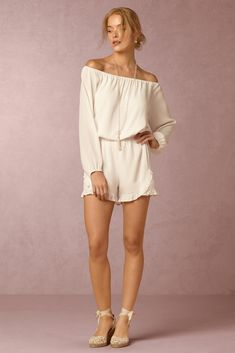 952c0cb7da5 BHLDN Collette Romper in Beach   Honeymoon Dresses   Separates