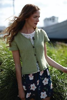 Think summer and linen.  Ravelry: Selene pattern by Martin Storey