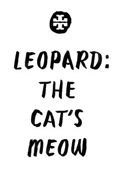 Leopard: The Cat's Meow