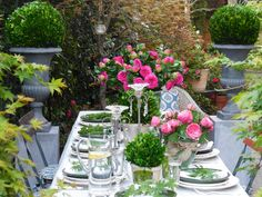 Boj preservados y rosas artificiales