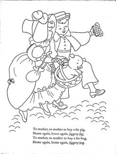 1952 Mother Goose Cut-Out Coloring Book