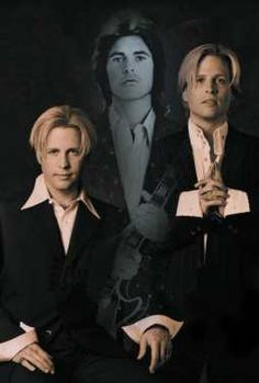 Matthew and Gunnar Nelson (twin sons of the late Ricky Nelson and Kris Harmon (sister of Mark Harmon and Kelly Harmon)
