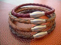 Leather Wrap Bracelet Cross Infinity Mixed Color Moto Charm Friendship UK Seller