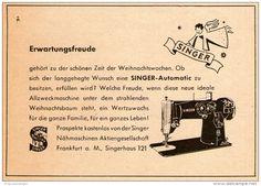 Original-Werbung/ Anzeige 1956 - SINGER NÄHMASCHINEN - ca. 115 x 80 mm