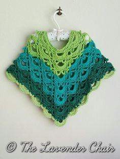 Gemstone Lace Toddler Poncho - Free Crochet Pattern - The Lavender Chair