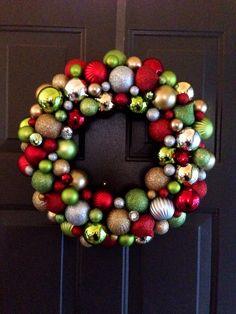 Christmas wreath, DIY #wreath #christmas