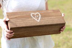Wedding Wine Box Fight Box Personalized Wedding by ThePaperWalrus