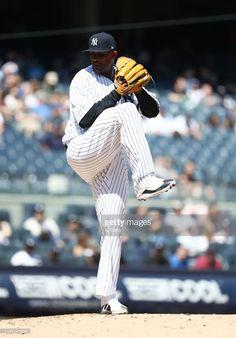 084c3cbf CC Sabathia #52 of the New York Yankees makes his first start of his last