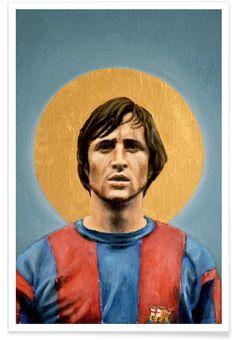 Football Icon - Johan Cruyff 1973 als Premium poster | JUNIQE