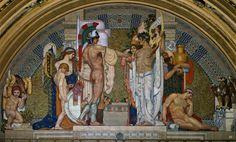 Antonio Rizzi, Italian 1869-1940, The Union, 1912-21, mosaic