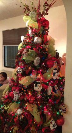 1000 images about navidad on pinterest felt christmas - Arbol de navidad decorado ...