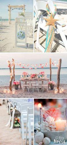 Boda en la playa: Ideas de decoración Más
