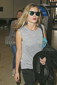 Georgia May Jagger at airport in Sydney, Australia. Jade Jagger, Mick Jagger, L'wren Scott, Georgia May Jagger, We Wear, How To Wear, The Great Gatsby, Sporty Chic, Sustainable Clothing