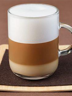 Nespresso Latte Macchiato | Layering a favorite Espresso over a creamy bed of warm milk makes this beverage recipe a delicious work of art.