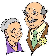 Una coppia di anziani viene intervistata nel corso di una trasmissione televisiva perché, s...