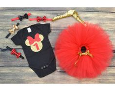 First Birthday Minnie Mouse pink Minnie by GABYROBBINSDESIGNS