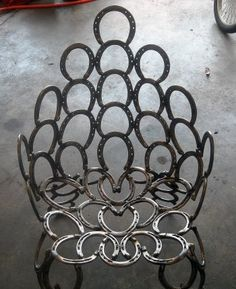 Crafts Made From Horseshoes | horseshoe chair | Equestrian Life