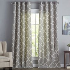 Grand Manor Gray Curtain Panel Set 108 In Kirklands