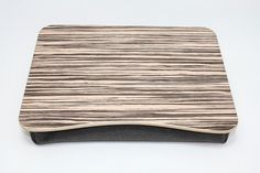 Wooden Bed Tray / Breakfast Desk / iPad Table / Breakfast Tray / Pillow Tray / Laptop Stand / Serving Tray Zebrano Dark