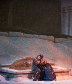 La Boheme - A scene from Act III, photo by Jonathan Tichler Music Sing, Swan Song, Metropolitan Opera, Classical Music, Set Design, Opera House, Digital Prints, Cinema, Scene